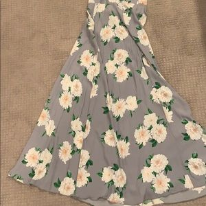 Lavender dress with large white flowers pattern